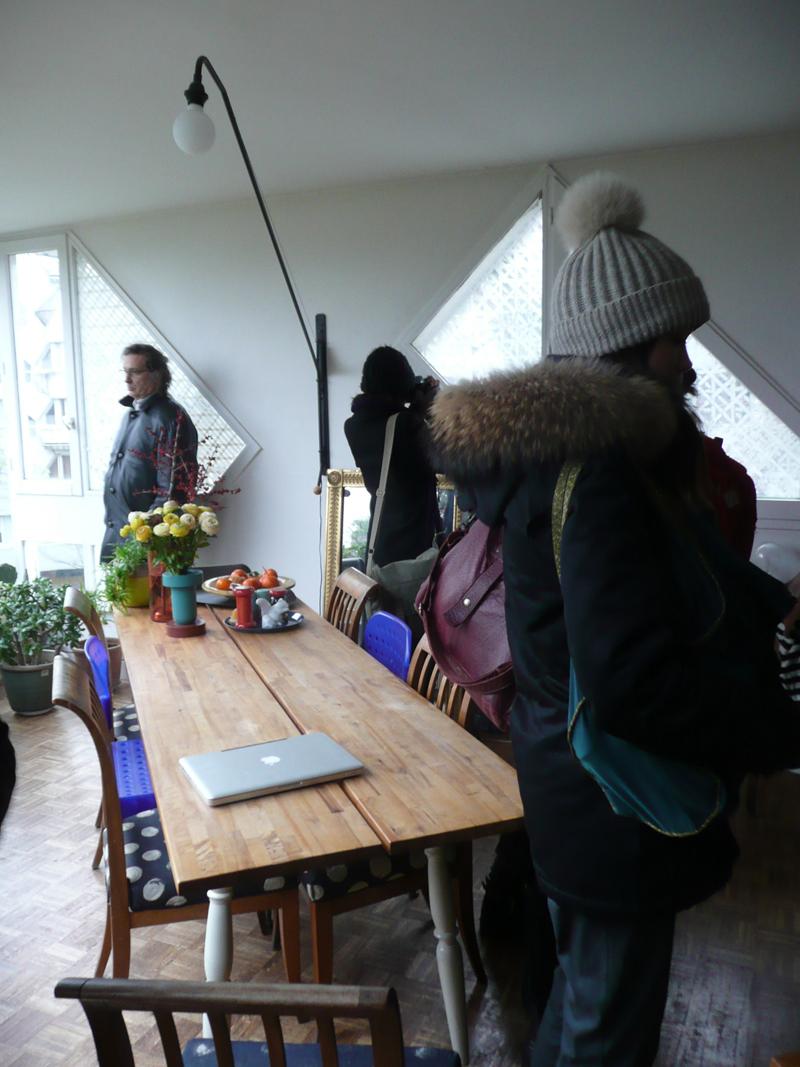 Vue intérieure. Visite guidée d'un appartement avec Serge Renaudie et Andrea Mueller (Atelier Ville Paysage)